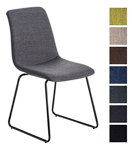 CLP Hochlehner Küchen-Stuhl FRANCIS gepolstert, Stoff-Bezug, Metallgestell schwarz, Esszimmerstuhl, Besucherstuhl modern