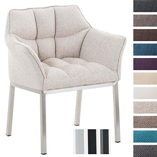 CLP Lounge-Sessel OCTAVIA mit Armlehnen, 4 Beine, Stoff-Bezug, gepolstert, Sitzhöhe 49 cm