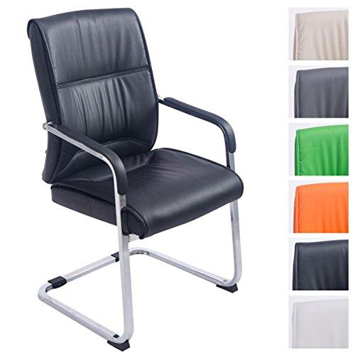 CLP XXL Freischwinger-Stuhl mit Armlehne ANUBIS, belastbar bis 260 kg, gepolstert