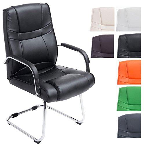 CLP XXL Freischwinger-Stuhl mit Armlehne ATTILA, belastbar bis 180 kg, gepolstert