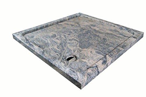 Duschwanne aus Naturstein, Duschtasse, Granit, 90*90cm, Juparana