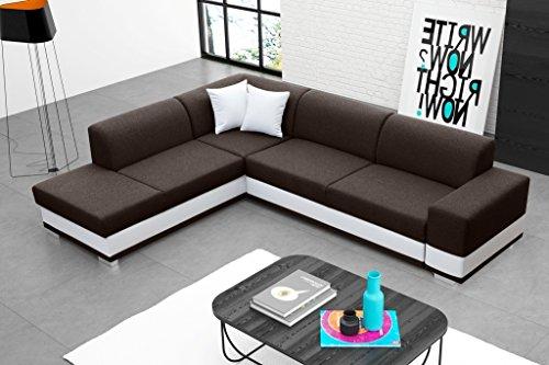 Furnistad - Modernes Ecksofa MOLLY Mit Schlaffunktion Und Bettkasten - Eckcouch - L-Form Bettfunktion Sofa Couch - Wohnlandschaft - Kostenfreie Lieferung