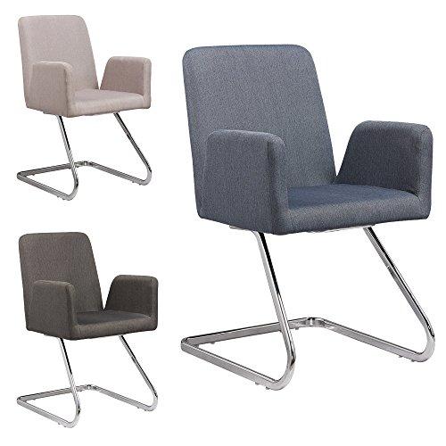 Lounge Stuhl Freischwinger Beatrice mit Armlehnen - Küchenstuhl - viele Farben - Retro Look - Konferenzstuhl - Barstuhl - Esszimmerstuhl - Stoffsessel