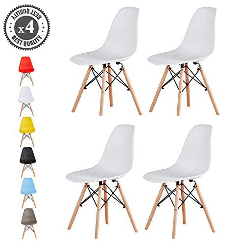 MCC Retro Design Stühle im 4er Set, Eiffelturm inspirierter Style für Küche, Büro, Lounge, Konferenzzimmer etc., 6 Farben, KULT