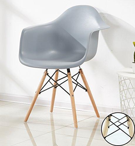 P & N Homewares® Romano Da Moda Wanne Stuhl Kunststoff Retro Esszimmer Stühle weiß schwarz grau rot gelb grün