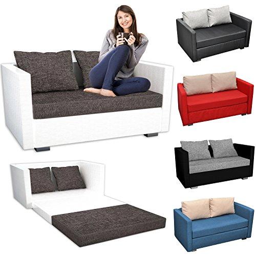 VCM 2er Schlafsofa Sofabett Couch Sofa mit Schlaffunktion Material- und Farbwahl