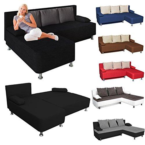 VCM Ecksofa Schlafsofa Sofabett Sofa Couch mit Schlaffunktion Farbwahl
