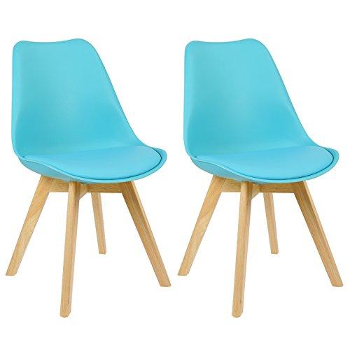 WOLTU #713 2 x Esszimmerstühle 2er Set Esszimmerstuhl Design Stuhl Küchenstuhl Holz, Neu Design