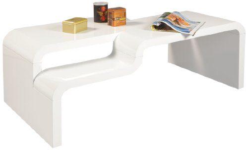 HL Design 01-03-438.1 Couchtisch Pedro, 1100 x 600 x 400 cm, hochglanz weiß lackiertMaterialstärke 40 mm,