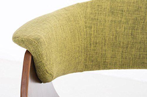 CLP Esszimmerstuhl PIRMA mit Stoffbezug | Konferenzstuhl mit robustem Holzgestell | In verschiedenen Farben erhältlich Grün
