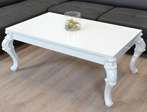 euro tische couchtisch 100 x 60 x 50 cm wei hochglanz lack kratzfest wohnzimmer tisch. Black Bedroom Furniture Sets. Home Design Ideas