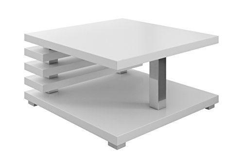 Couchtische Wohnzimmertische Beistelltisch Tisch Oslo 60 x 60 cm Matt Weiß