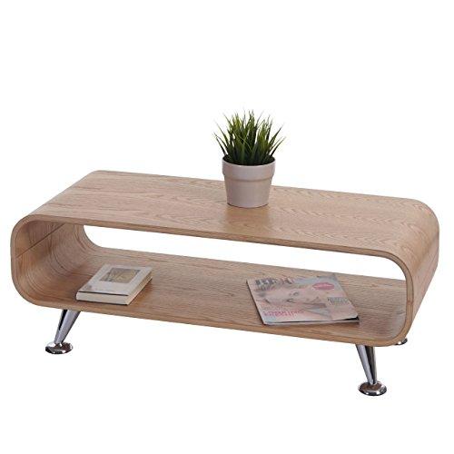 Mendler Couchtisch HWC-B97, Loungetisch Club Tisch, 34x90x39cm ~ Eiche Natur