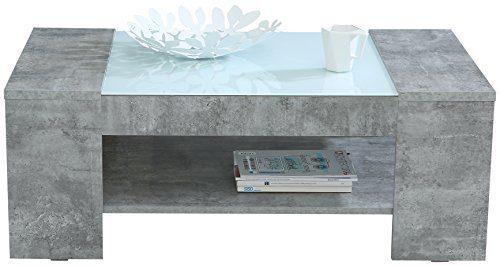 NEWFACE  Couchtisch mit Ablage, Holz, beton, 120 x 71 x 45 cm